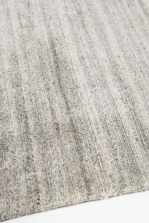 Moderner Teppich Streifenmuster Seide Aus Bambus Aarambha