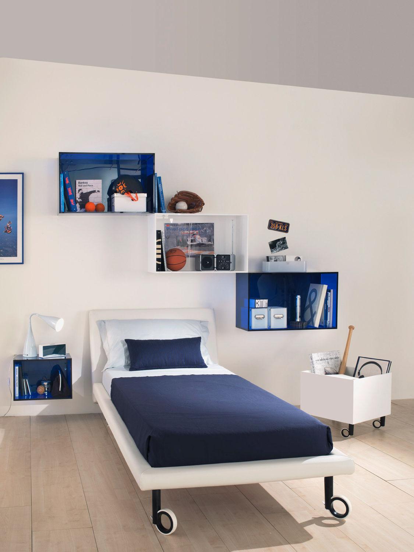 standardbett / modern / holz / für kinder - kubika: compozione 3, Hause deko