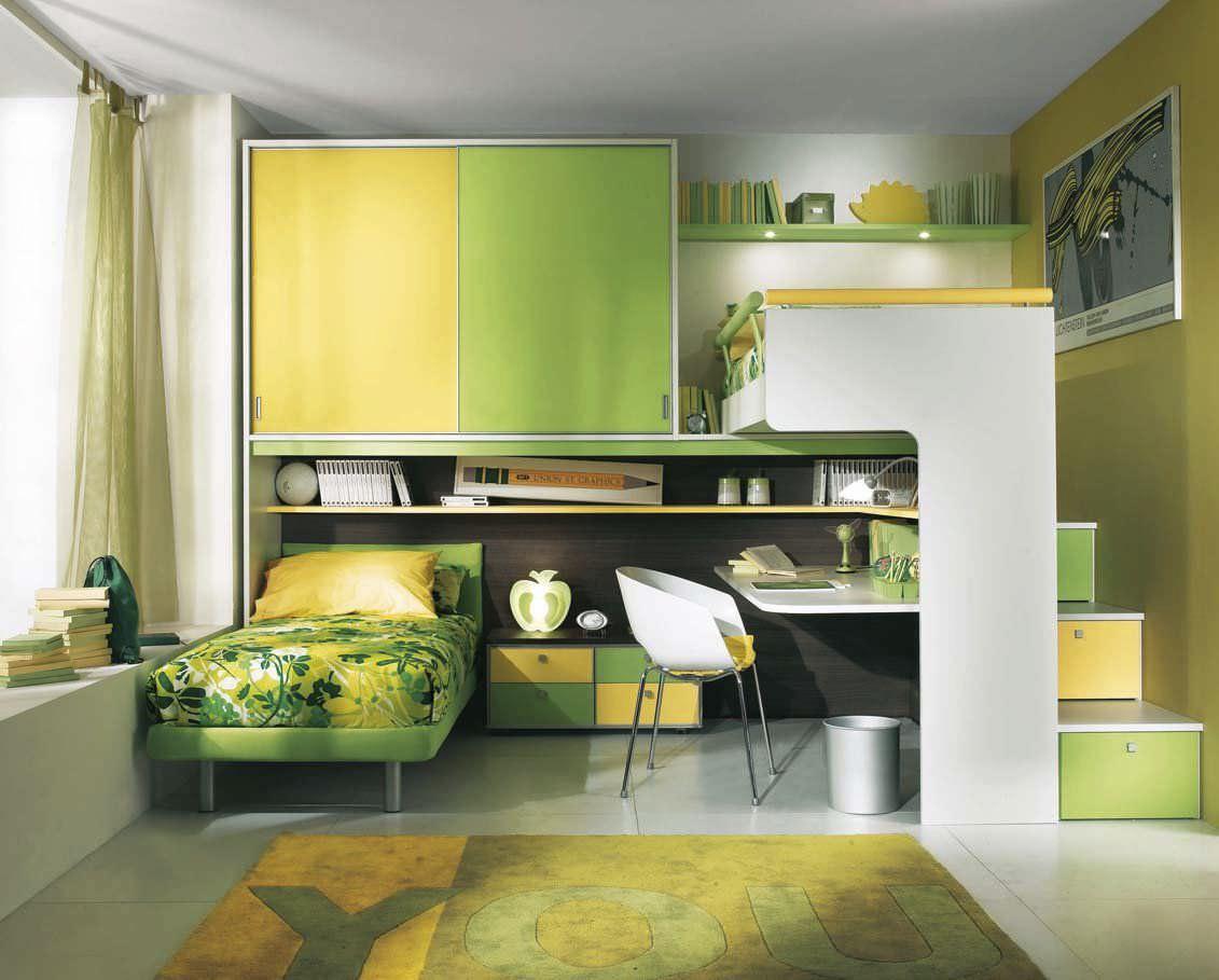 Hochbett / modern / Holz / mit Schreibtisch - ARCAMAGICA ...