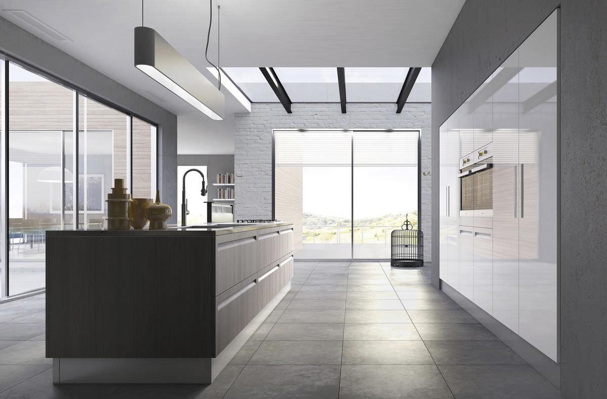 Moderne Küche / Holz / Kochinsel - CAMPIGLIO - SCIC