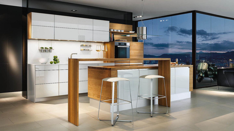 Moderne Kuche Glas Aus Ahorn Aus Kirschbaum Linee By