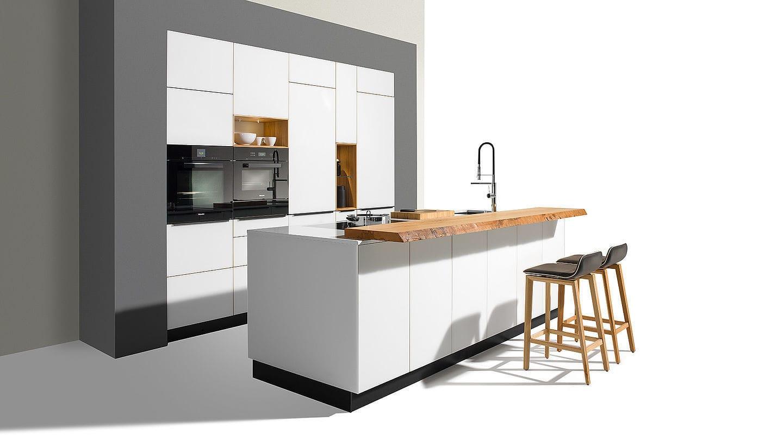 Moderne Küche / Glas / aus Ahorn / aus Kirschbaum - LINEE by ...