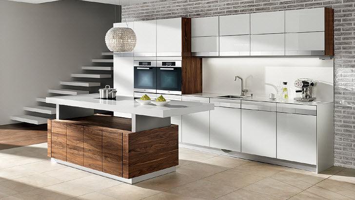 Moderne Küche / Massivholz / Holz / Kochinsel - K7 By Kai Stania