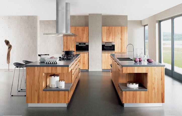 Moderne Kuche Stein Massivholz Holz Rondo By Karl Auer Team 7