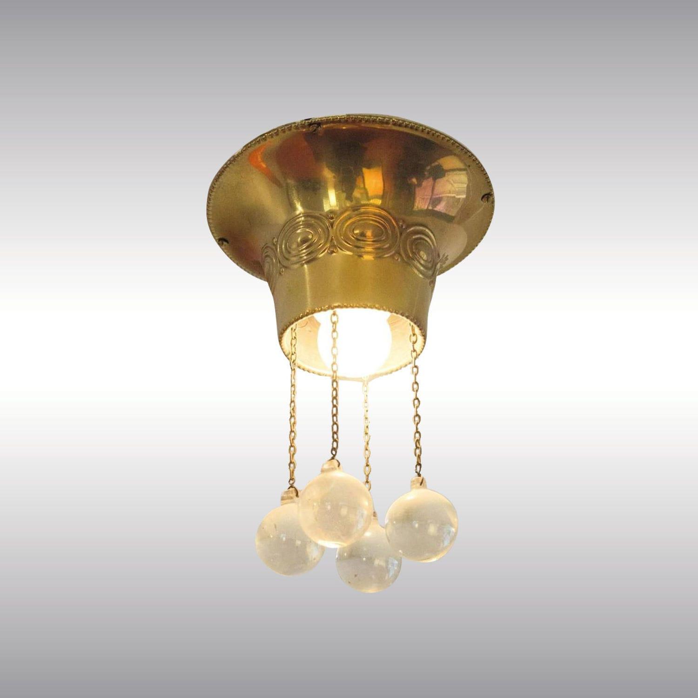 Anspruchsvoll Messing Deckenlampe Foto Von Klassische Deckenleuchte / Glas / / Led