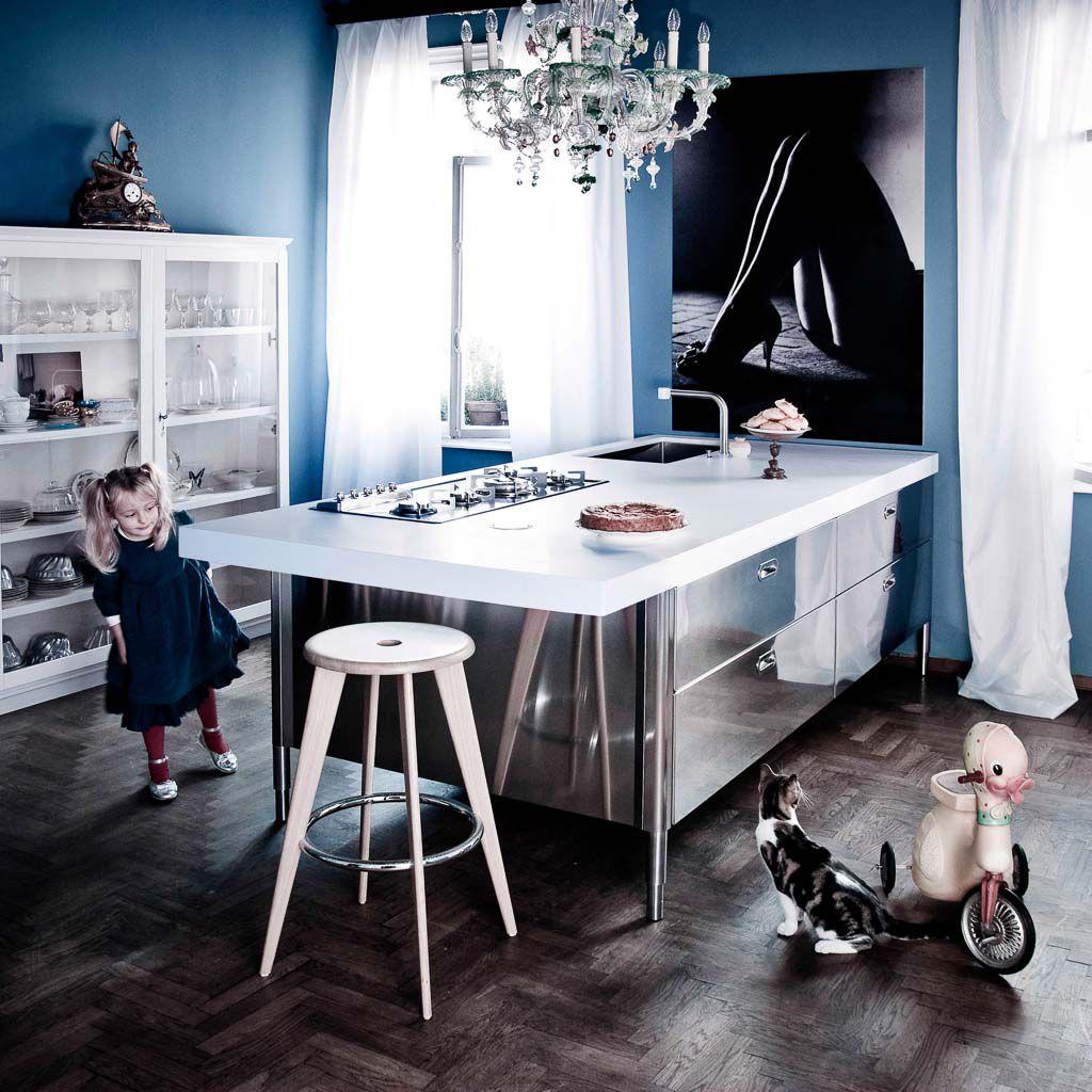 Kücheninsel - 250-280 WITH SNACK UNIT - ALPES-INOX