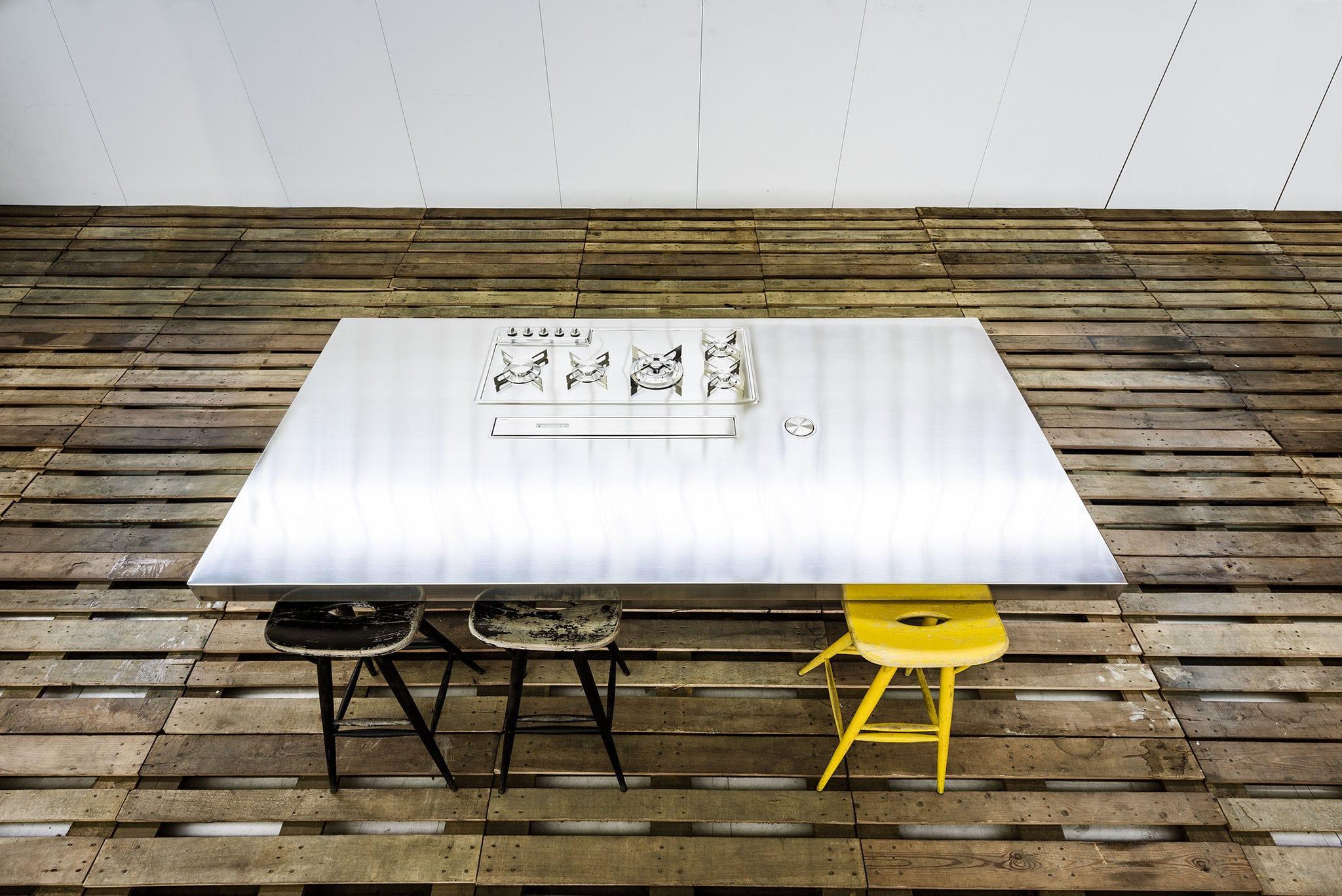 Kücheninsel - 250 WITH BUILT-IN EXTRACTOR HOOD - ALPES-INOX