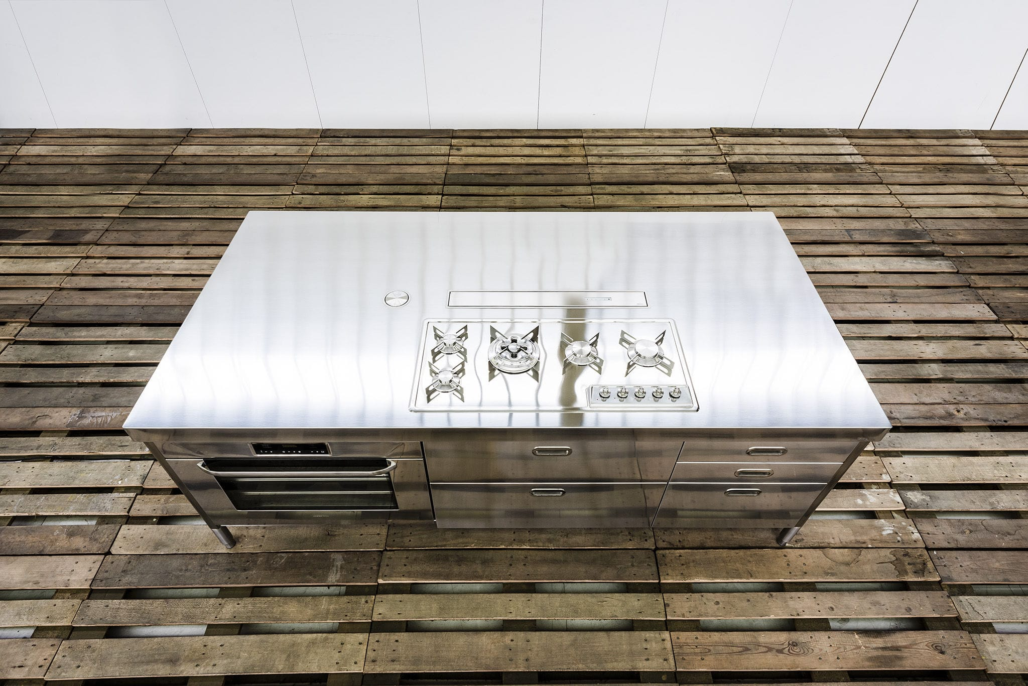 Kücheninsel - 250 WITH BUILT-IN EXTRACTOR HOOD - ALPES-INOX