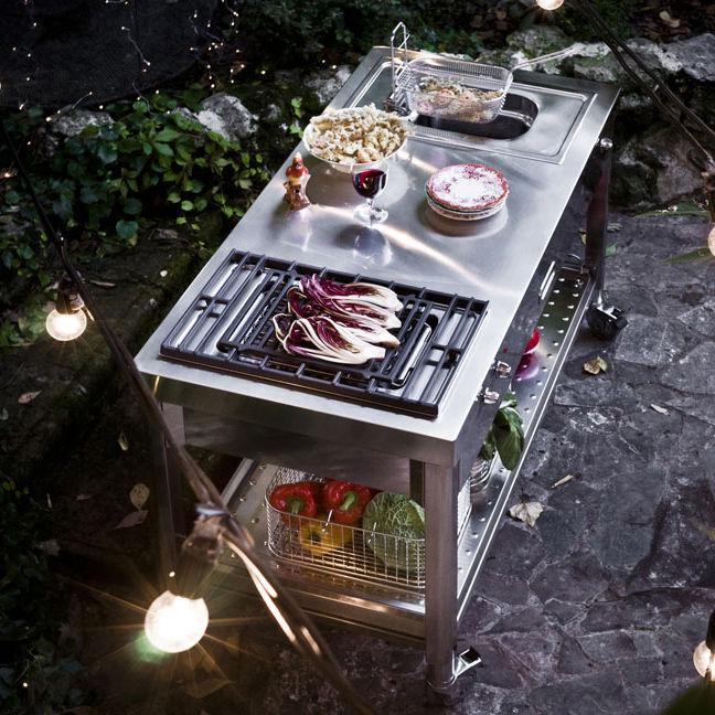 Elektrischer Grill / zum Einbauen / Gewerbe / Edelstahl - ALPES-INOX