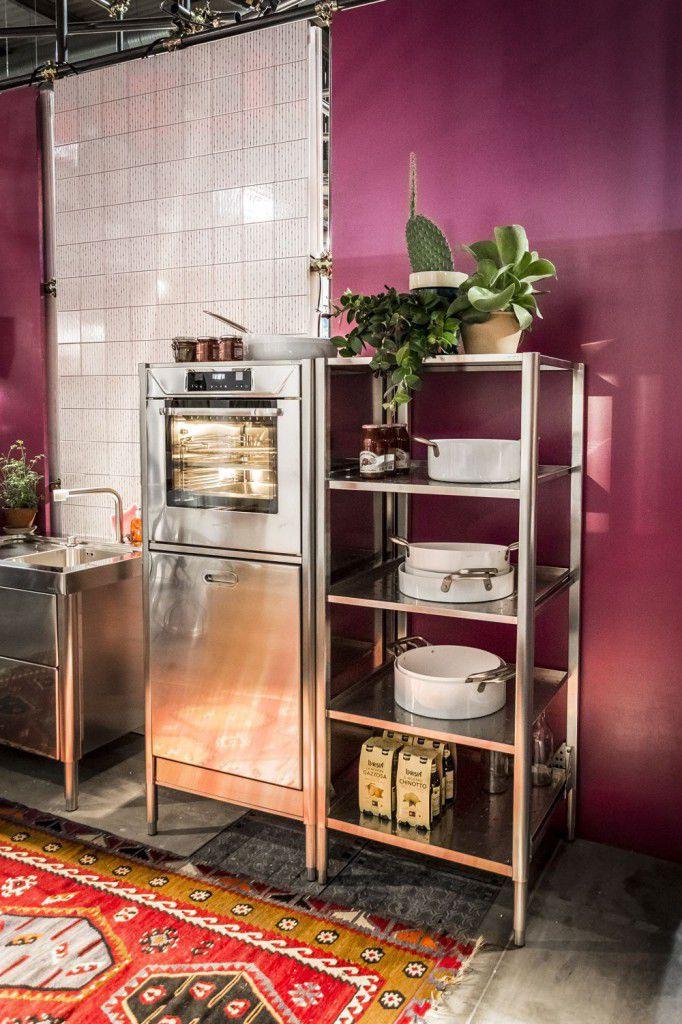 "Moderne Küche / Edelstahl / Modul - 190 ""EUROCUCINA"" - ALPES-INOX"