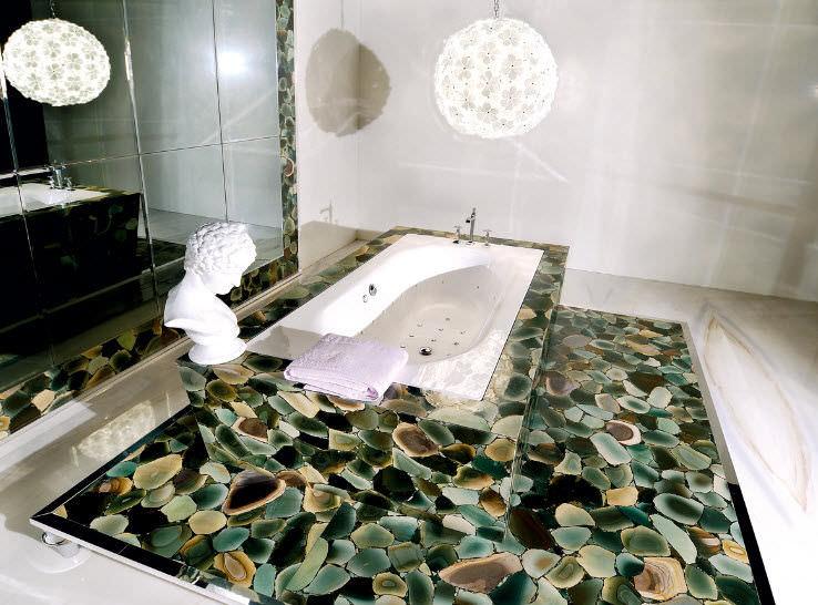 Innenbereich Fliesen / Für Badezimmer / Boden / Jaspis   PRECIOUSTONE  COLLECTION : ANGEL JASPER