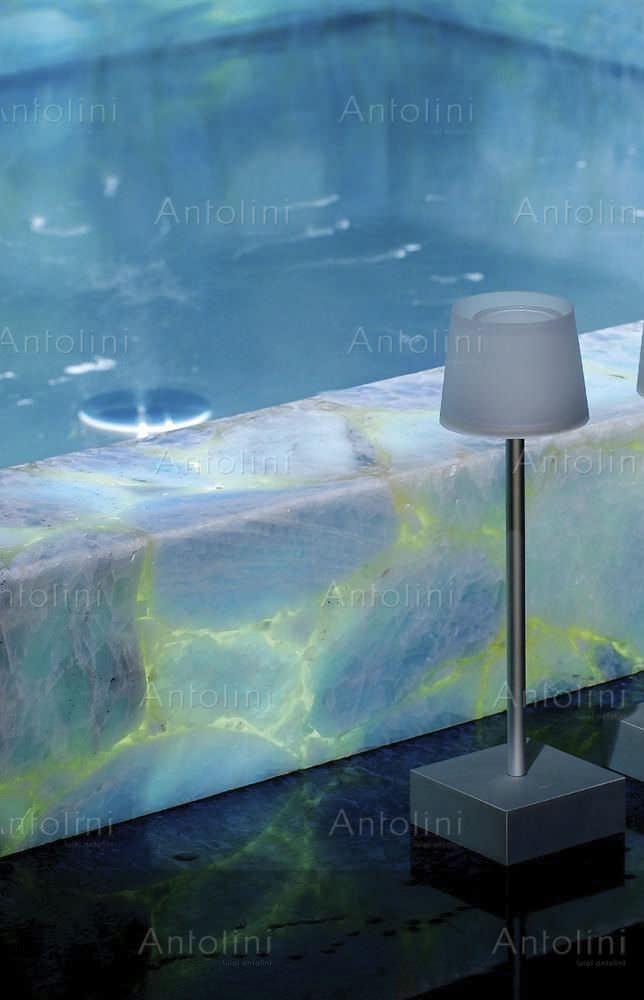 Innenbereich Fliesen / Für Badezimmer / Bodenstehend / Quarzit PRECIOUSTONE  COLLECTION : ICE BLUE CALCITE ...