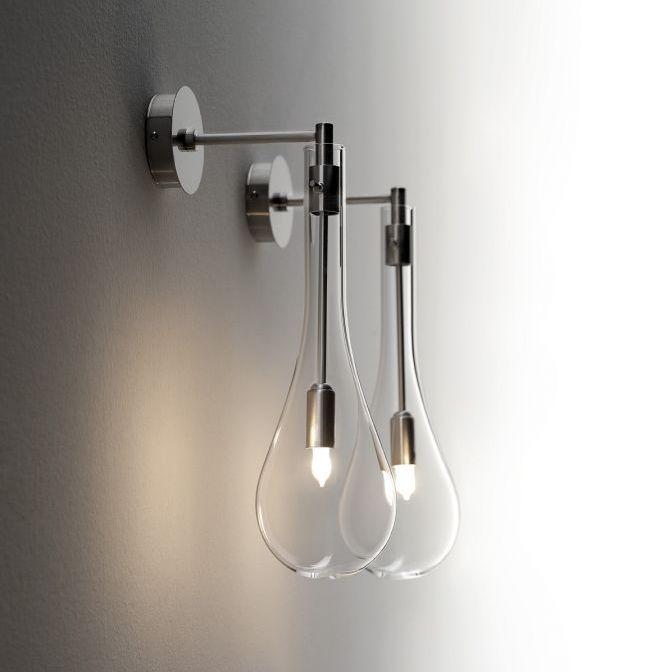 Moderne Wandleuchte / für Badezimmer / Glas / für Spiegel - SPLASH ...