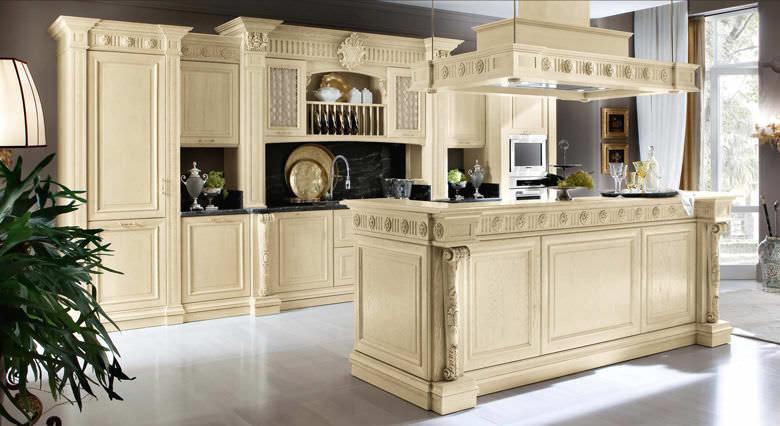 Klassische küche  Klassische Küche / Massivholz / Holz - BAMAX