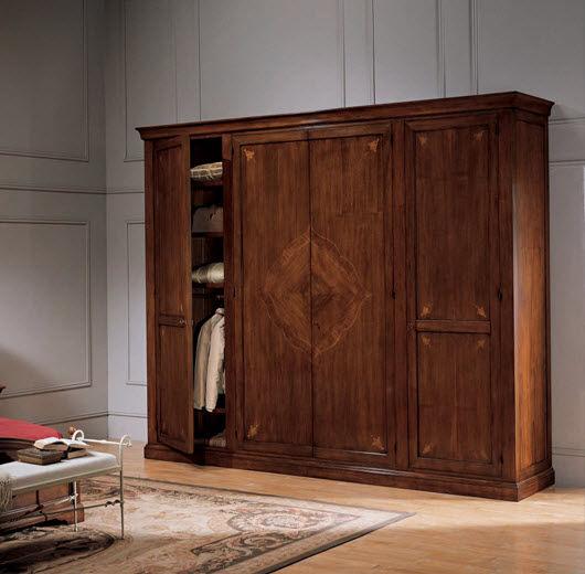 Klassischer Kleiderschrank Holz Schwingturen Leonardo Bamax