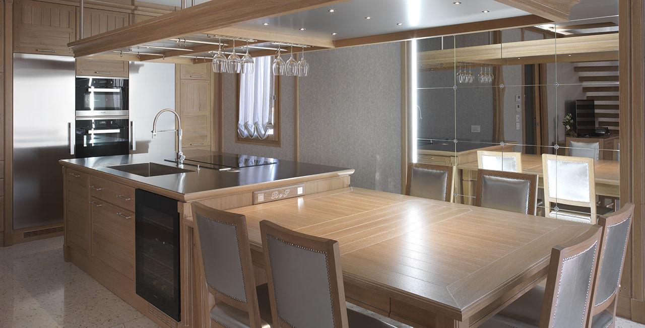 ... Moderne Küche / Holz / Edelstahl / Aus Eiche BAMBOO BRUMMEL ...