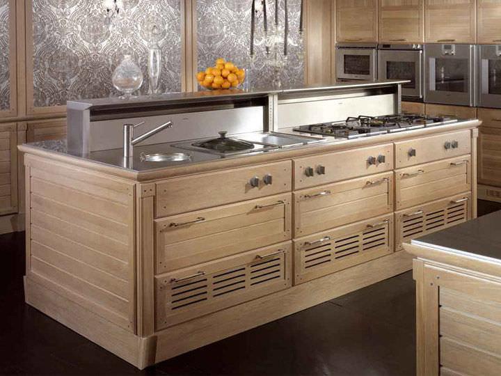 Moderne Küche / Holz / Edelstahl / Aus Eiche   BAMBOO