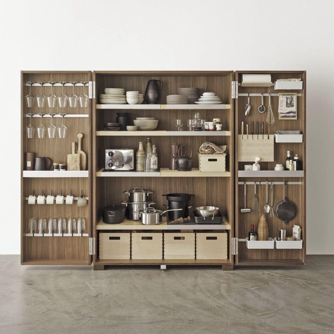 Moderner Lagerschrank für Küchen / Nussbaum - TOOL CABINET - Bulthaup