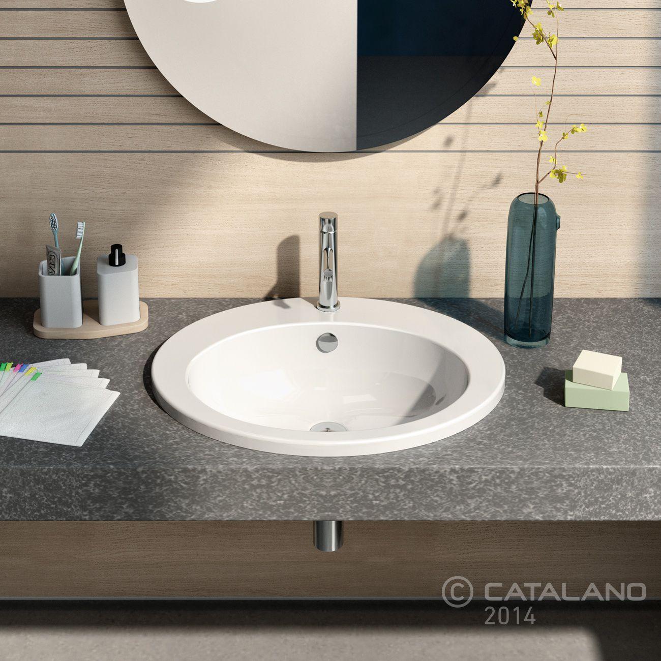 Einbauwaschbecken Oval Keramik Modern 61 Catalano