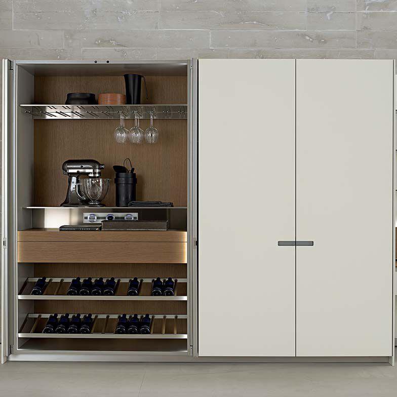 Moderner Lagerschrank für Küchen / Holz - ICON: by Giuseppe Bavuso ...