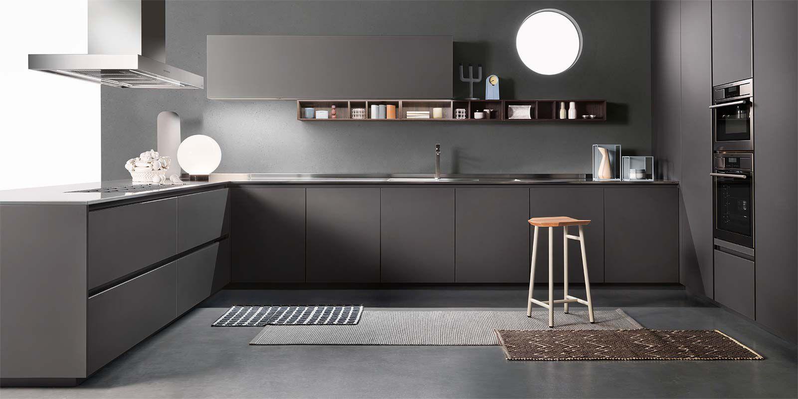 Moderne Küche / Stahl / Holz / matt - ONE - ERNESTOMEDA