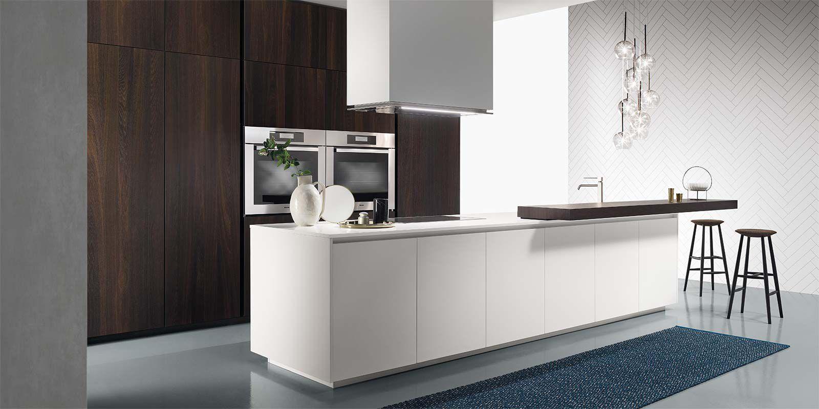 Moderne Küche / Holz / Kochinsel / lackiert - ONE - ERNESTOMEDA
