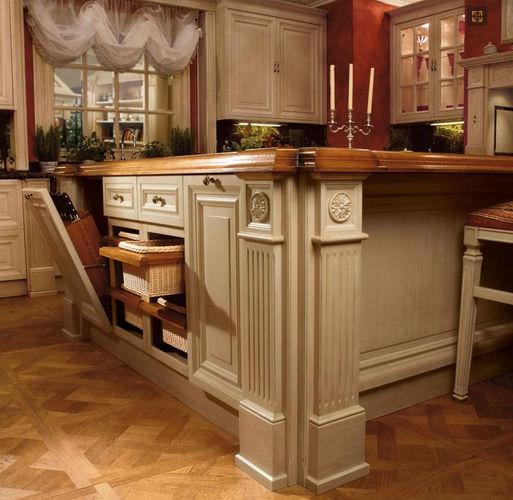 Massivholzmöbel Küchenoberschränke Glasschranktür