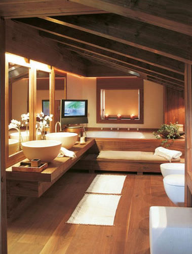 Modernes Badezimmer / Holz - TREND WALNUT by Gianluca Tomaselli - FAOMA