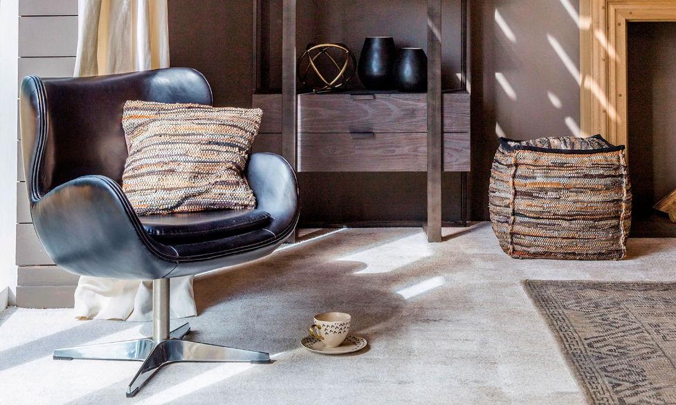 Moderner Sessel Leder Metall Drehbar IGO FLAMANT Home Cool Flamant Home Interiors