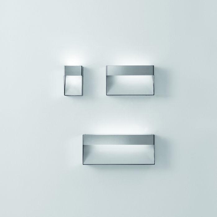 Moderne Wandleuchte / Für Badezimmer / Glas / Edelstahl   369 By Benedini  Associati
