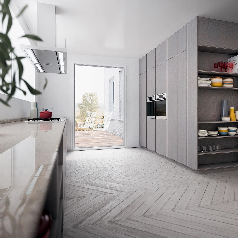Moderne Küche / Holz / Kochinsel / lackiert - VELVET PROFILE I by ...