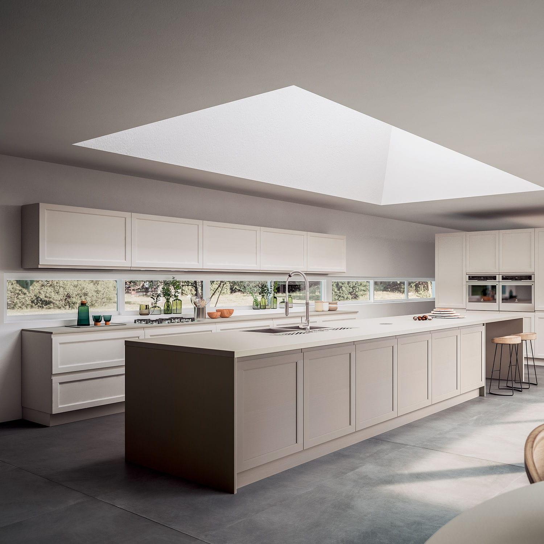 Moderne Küche / Esche / Massivholz / Kochinsel   GIOIOSA