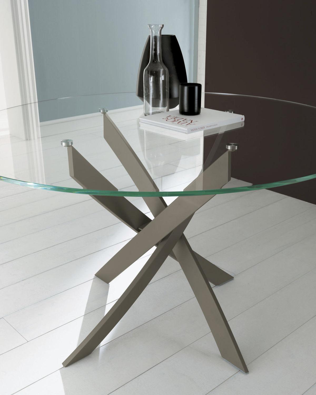 Esstisch modern glas  Moderner Esstisch / Glas / rund - BARONE - BONTEMPI CASA - Videos