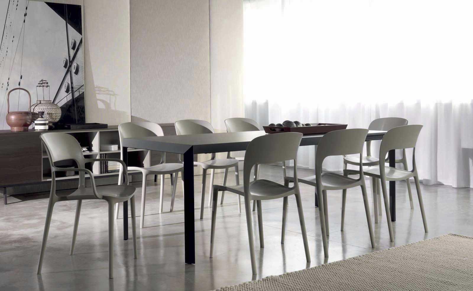 Moderner stuhl mit armlehnen stapel polypropylen gipsy