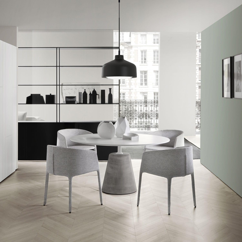 moderne esstisch / hartglas / aus zement / rund - rock table by, Esstisch ideennn