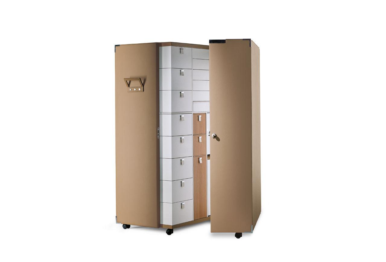 Koffer Kleiderschrank Modern Leder Aus Mdf Oceano Poltrona