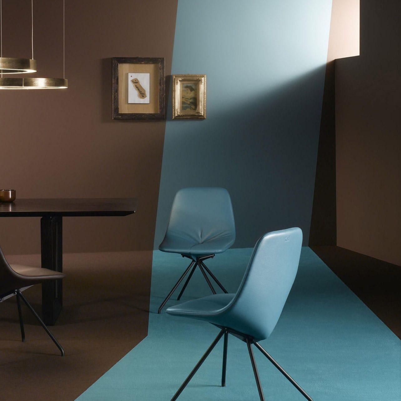 Moderner Stuhl Polster Leder Eisen Du 30 By Gastone Rinaldi