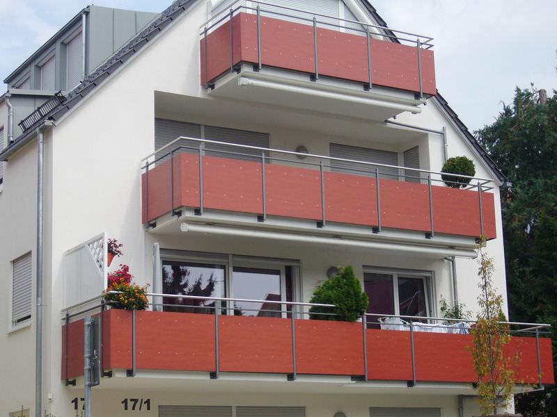 Platten Balkon Holz Werzalit