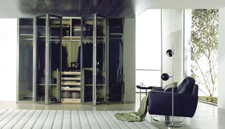 Kleiderschrank spiegel modern  Moderner Kleiderschrank / Holz / Schiebetüren / Spiegel - GLASS by ...