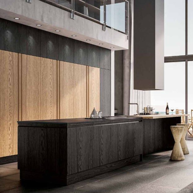Moderne Küche / Holz / Kochinsel - CANOVA - BERLONI