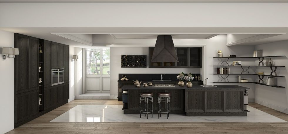 Moderne Küche / Holz / Kochinsel / ohne Griff - MILANO - BERLONI