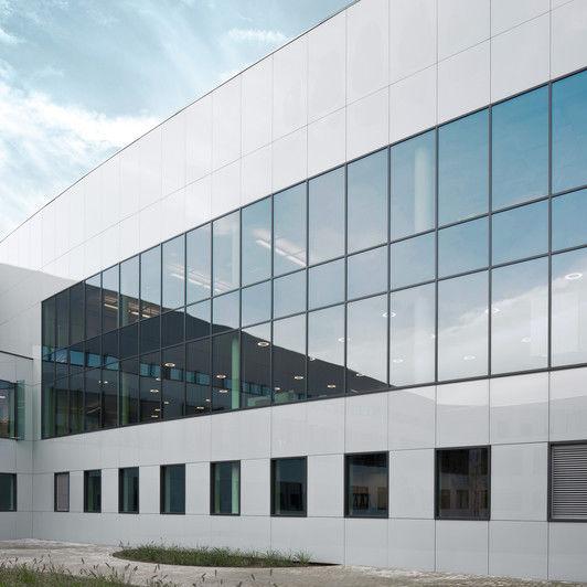 Fassade glas  Schutzpaneel / Glas / für Fassaden / Sonnenschutz - COLORBEL - AGC ...