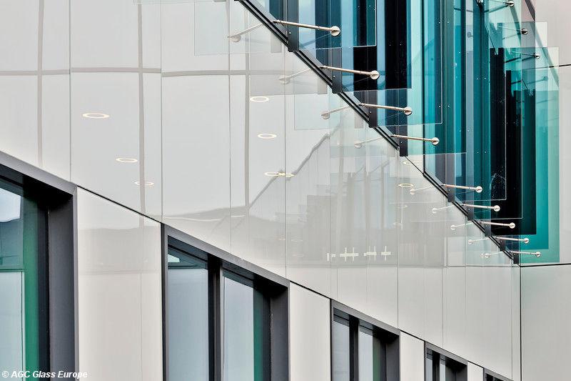 Fassade glas  Schutzpaneel / Glas / für Fassade / Sonnenschutz - COLORBEL - AGC ...