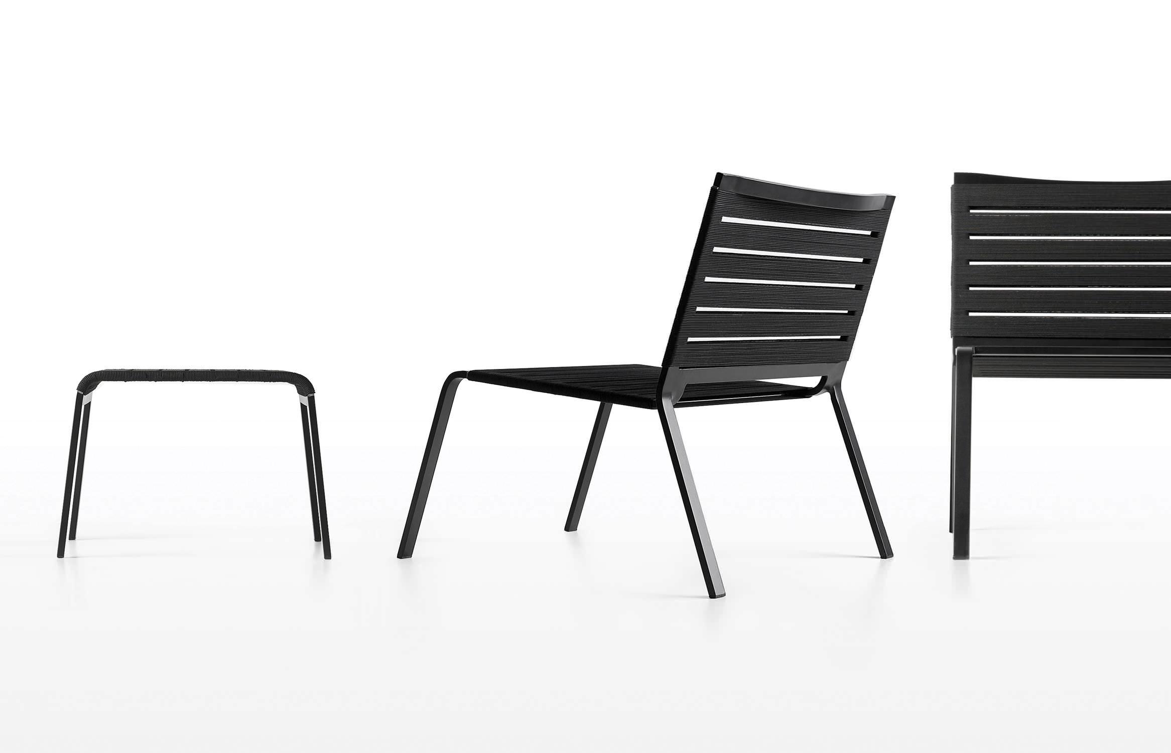 Minimalistischer Sessel / Aluminium / Polyester / Für Den Garten ...