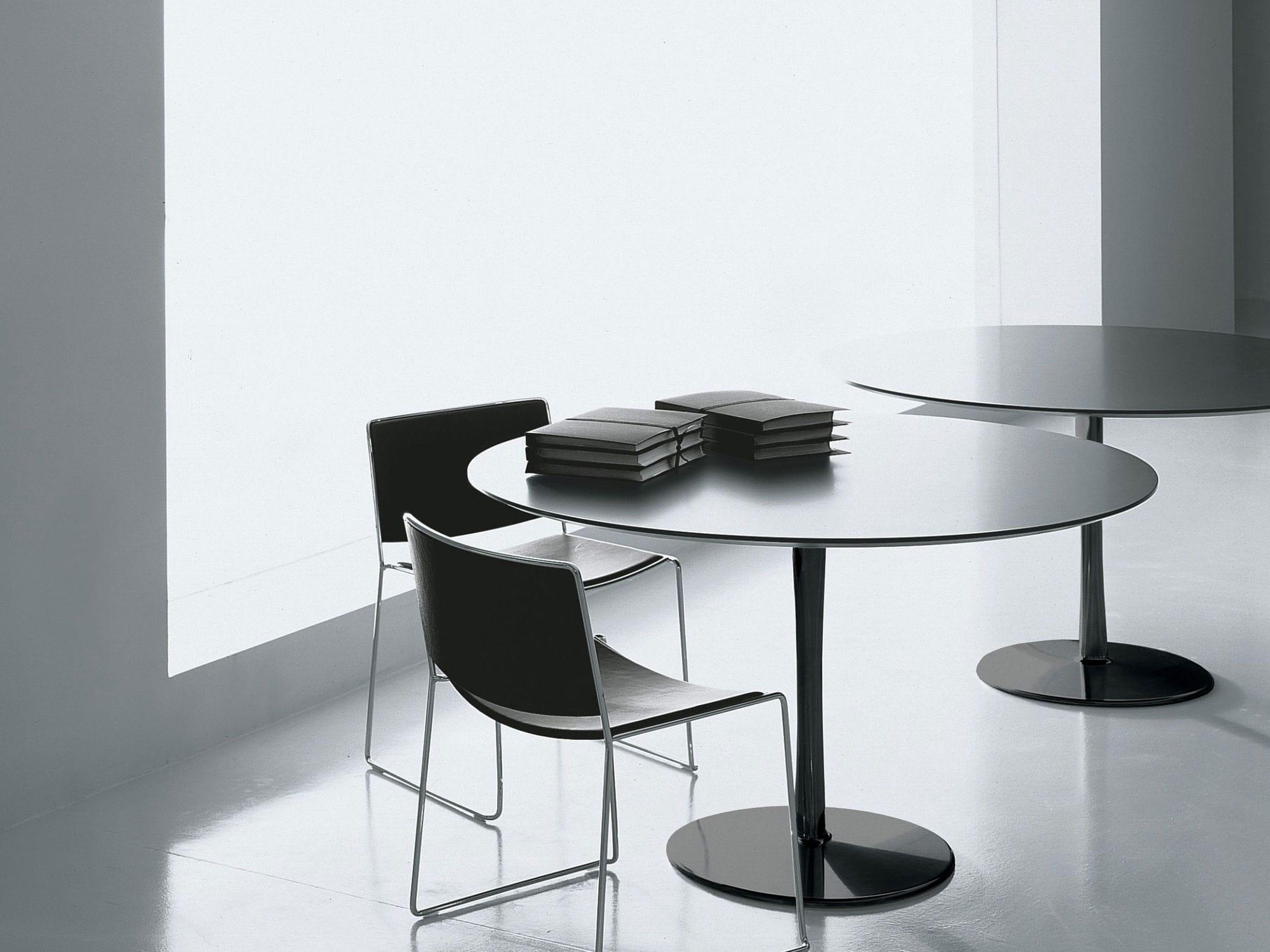 Tisch design rund  Moderner Tisch / lackiertes Aluminium / Aluminium / rund - JOIN by ...