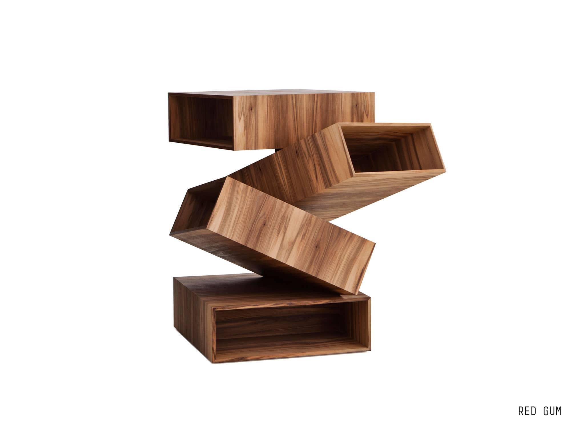 Beistelltisch Design beistelltisch originelles design holz metall quadratisch