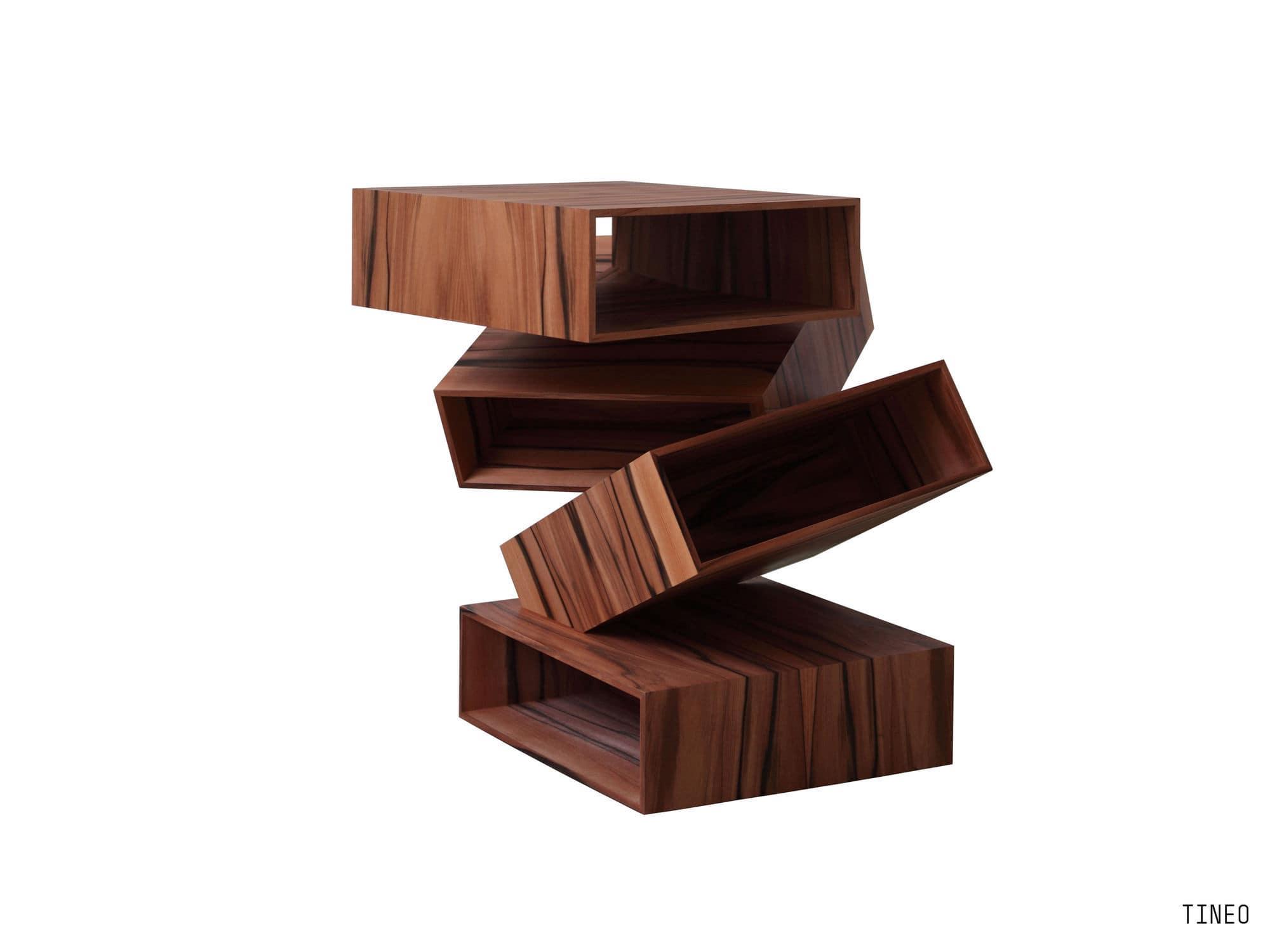 beistelltisch / originelles design / holz / metall - balancing, Moderne