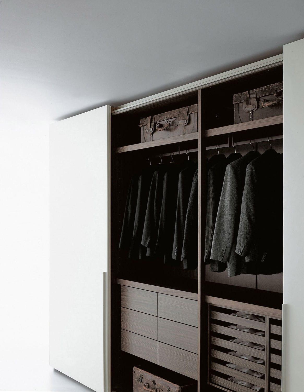 Moderner Kleiderschrank / Holz / Schiebetüren / von Piero Lissoni ...