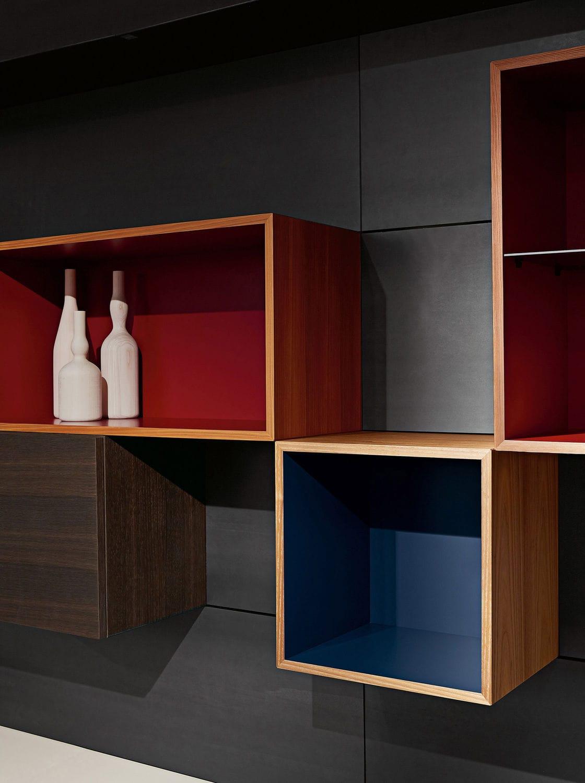 Moderne Wohnwand / Holz / von Piero Lissoni - MODERN LIVING - Porro