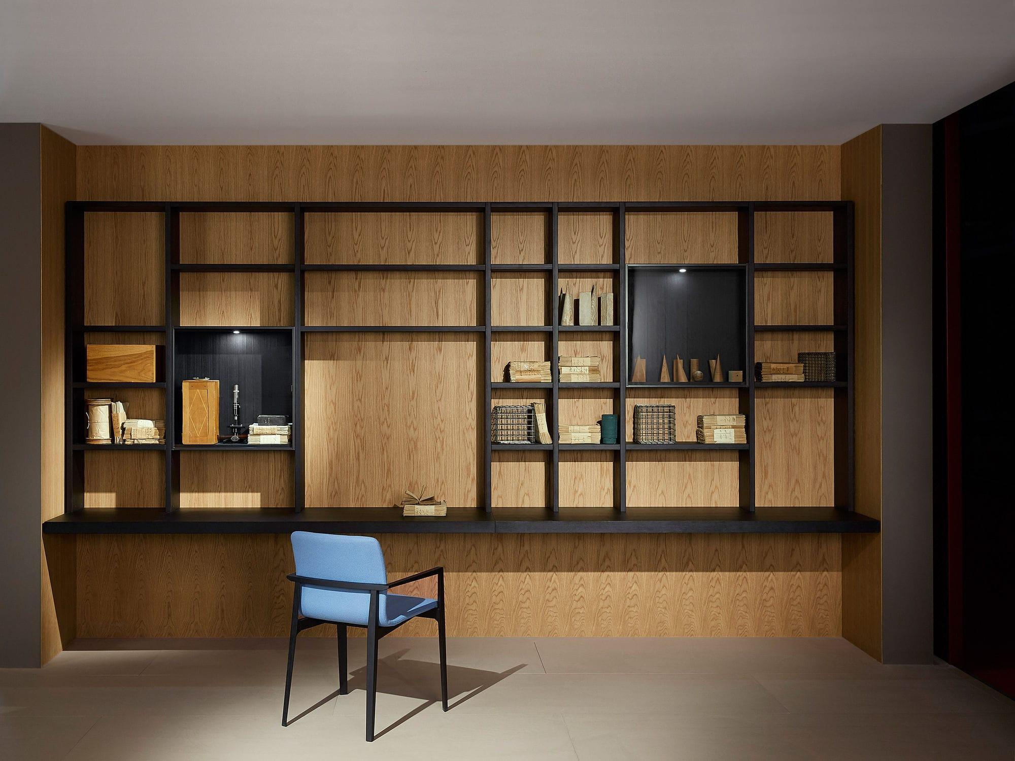 Büro design holz  Moderne Bibliothek / für Büro / lackiertes Holz / Aluminium ...